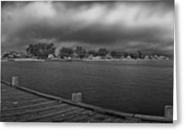Historic Anna Maria City Pier In Infrared Greeting Card