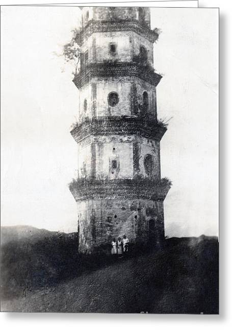 Historic Asian Tower Building Greeting Card by Jorgo Photography - Wall Art Gallery