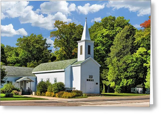 Historic Bethel Church On Washington Island Door County Greeting Card by Christopher Arndt