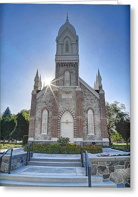 Historic Box Elder Tabernacle Greeting Card by Donna Kennedy