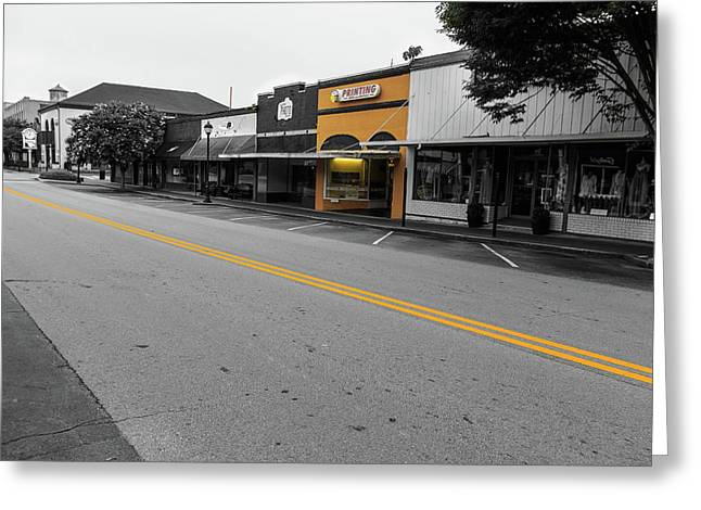 Historic Buford In Selective Color Greeting Card