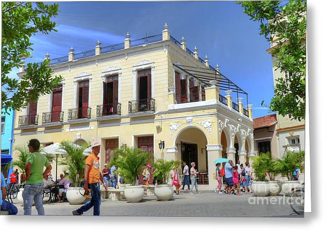 Historic Camaguey Cuba Prints Commercial Center 2 Greeting Card by Wayne Moran