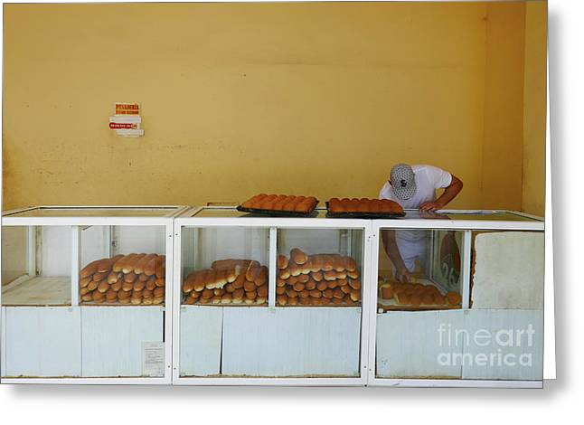Historic Camaguey Cuba Prints The Bakery Greeting Card by Wayne Moran