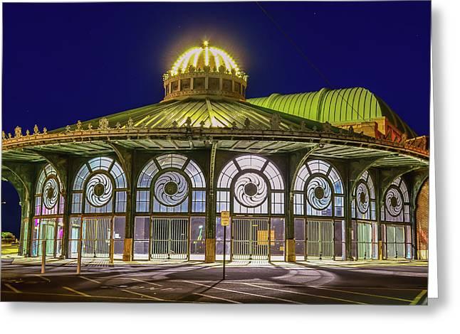 Historic Carousel Building, Asbury Park Nj Greeting Card