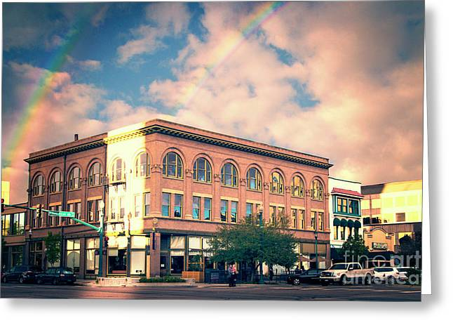 Historic Cheyenne Building Greeting Card by Nancy Forehand Photography