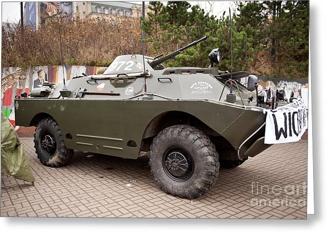 Historic Combat Vehicle Martial Law Greeting Card