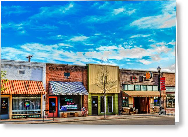 Historic Downtown Emmett 01 Greeting Card by Robert Bales