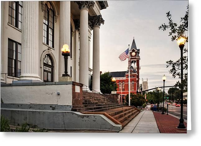 Historic Downtown Wilmington North Carolina Greeting Card