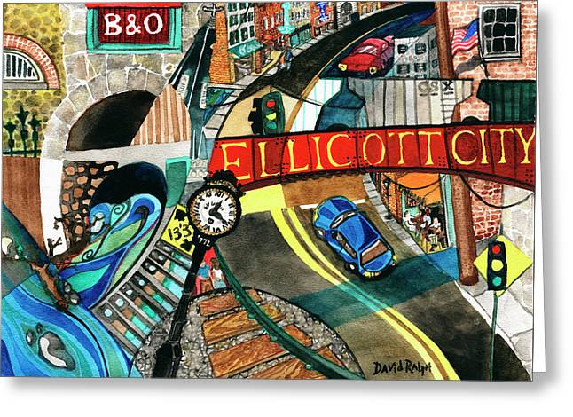 Historic Ellicott City Steam And Stone Greeting Card