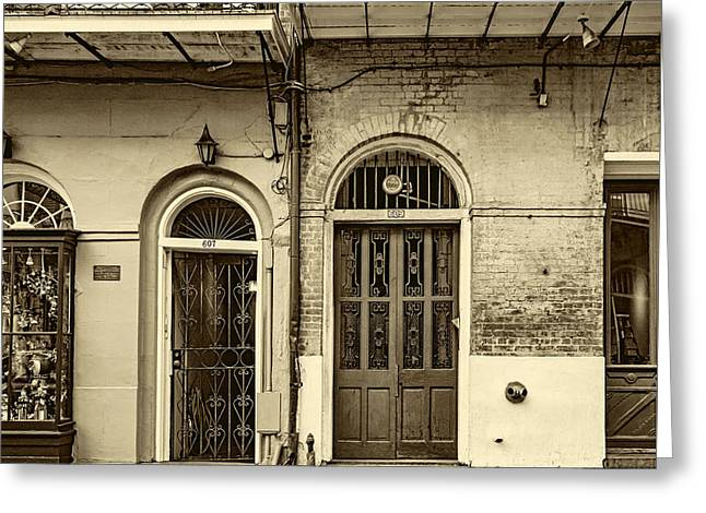 Historic Entrances - Sepia Greeting Card