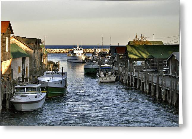 Historic Fishtown Docks Greeting Card