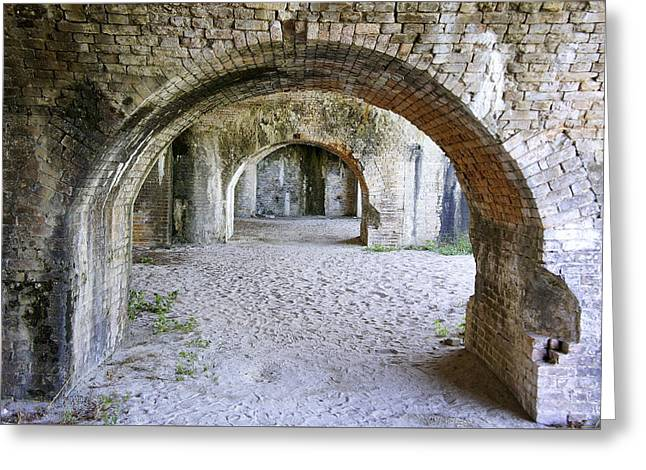 Historic Florida Fort Greeting Card by Laurie Perry