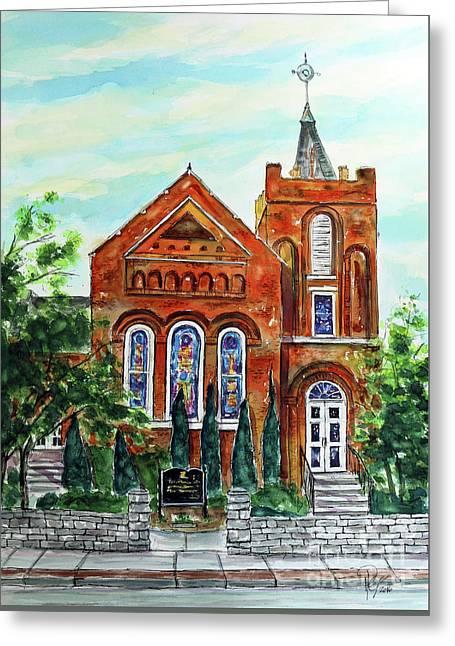 Historic Franklin Presbyterian Church Greeting Card by Tim Ross