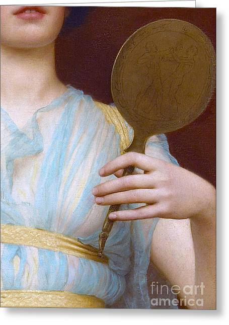 Historical Grecian Fashion, Antique Painting Detail Greeting Card