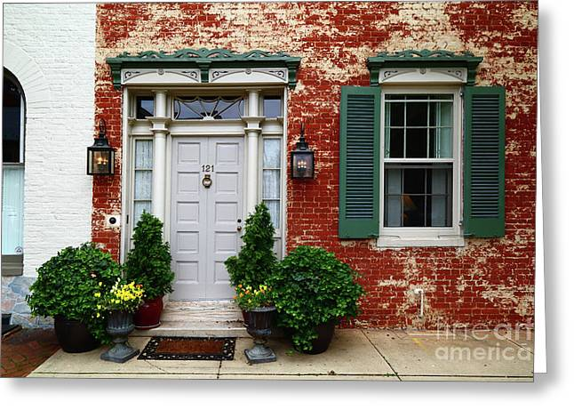 Historic House In Frederick Maryland Greeting Card