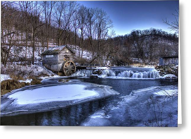 Historic Hyde Mill Wisconsin Greeting Card by Yinan Chen