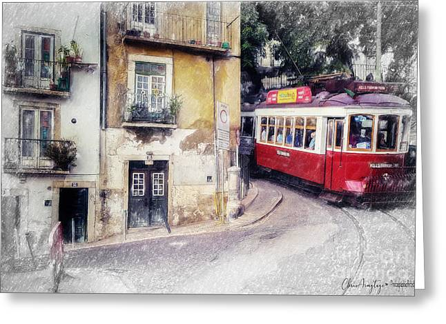 Historic Lisbon Tram Greeting Card