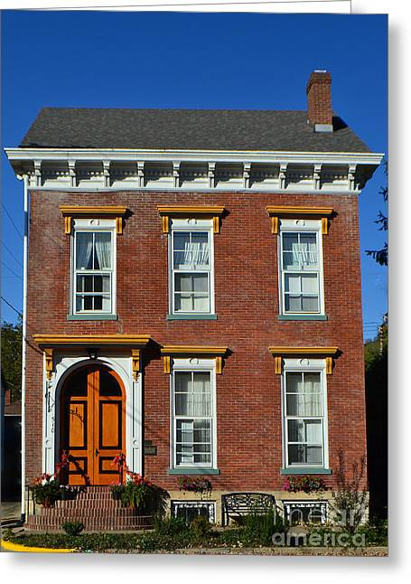 Historic Madison Row House Greeting Card by Amy Lucid
