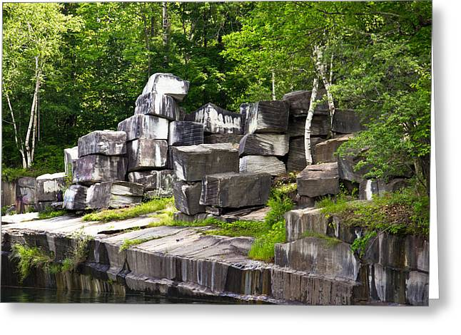 Historic Marble Quarry In Dorset, Vermont Greeting Card