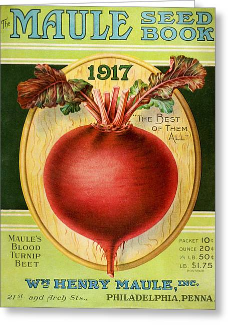 Historic Maules Seed Book Greeting Card