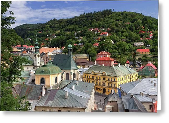 Historic Mining Town Banska Stiavnica, Slovakia Greeting Card