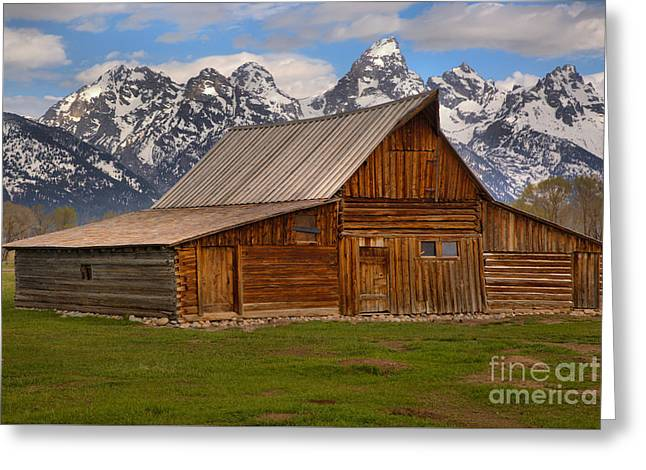 Historic Moulton Barn Greeting Card by Adam Jewell