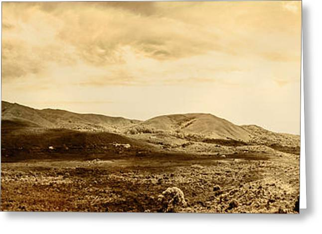 Historic Mountain Landscape In Sepia Tone Greeting Card by Jorgo Photography - Wall Art Gallery