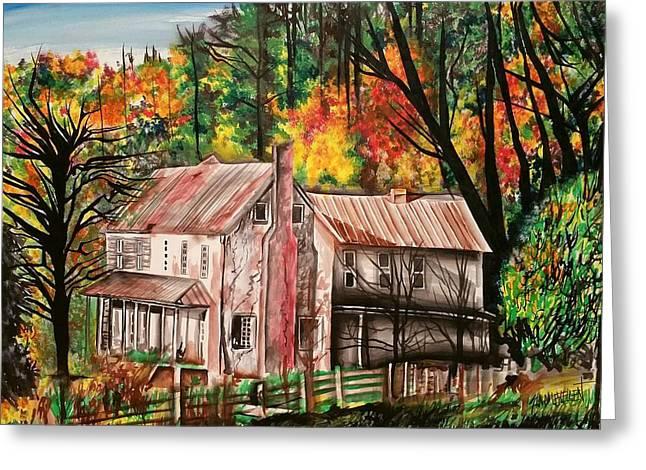 Historic Nickell Homestead  Greeting Card by Shawna Lewellen