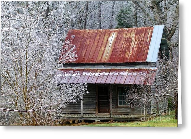 Historic North Carolina Cabin Greeting Card