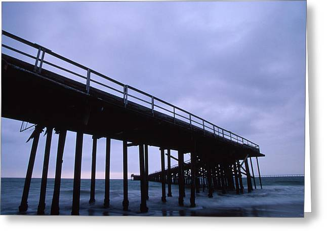 Historic Oil Piers Greeting Card