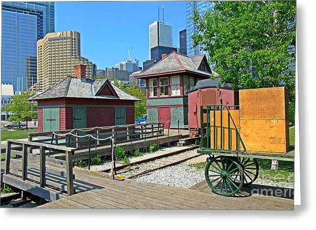 Historic Railway Site In Toronto Greeting Card by John Malone