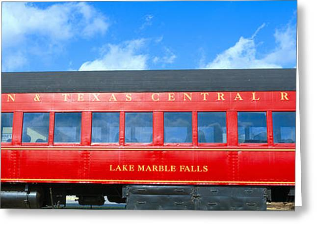 Historic Red Passenger Car, Austin & Greeting Card