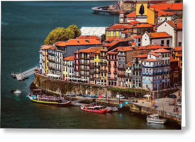 Historic Ribeira Porto  Greeting Card by Carol Japp