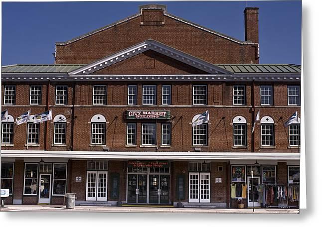Historic Roanoke City Market Building Greeting Card
