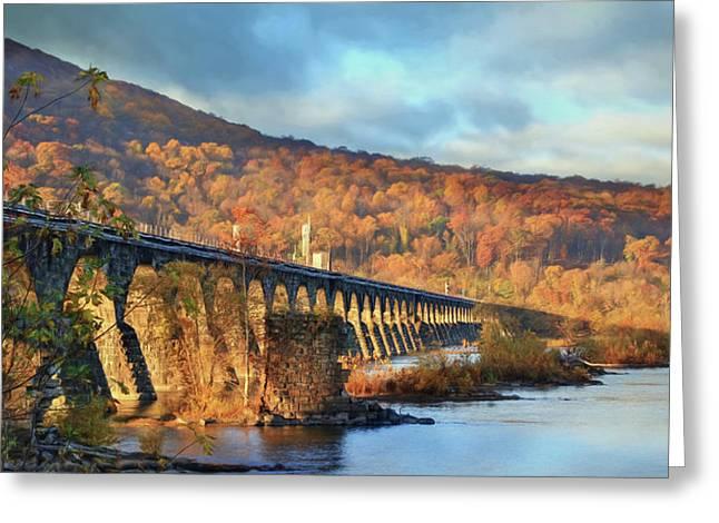 Historic Rockville Bridge Greeting Card by Lori Deiter
