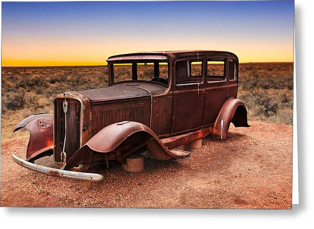 Historic Route 66 Greeting Card by Edwin Verin