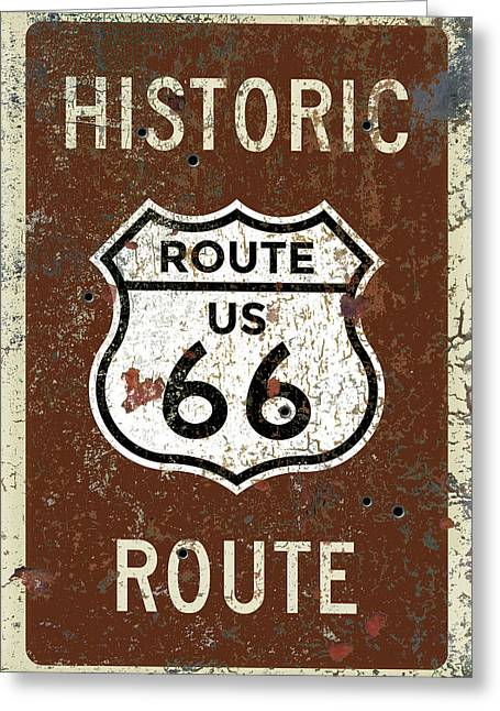 Historic Route 66 Highway Sign Greeting Card