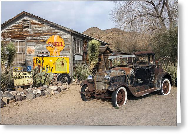 Historic Route 66 - Old Car And Shed Greeting Card