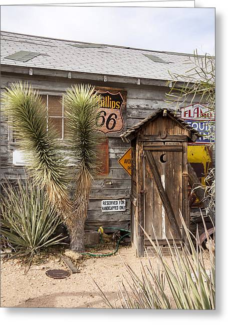 Historic Route 66 - Outhouse 1 Greeting Card