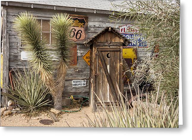 Historic Route 66 - Outhouse 2 Greeting Card