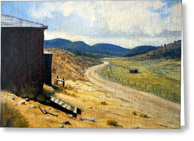 Historic Stage Coach Road Virginia City Bodie Sweetwater Road Nevada Greeting Card by Evelyne Boynton Grierson