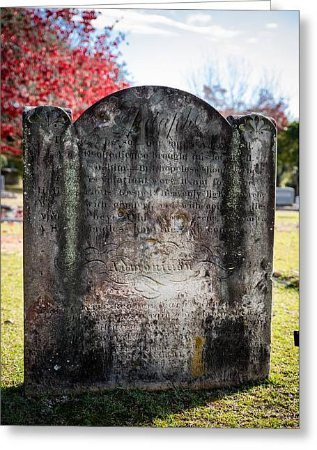 Historic Stone - Quaker Cemetery Greeting Card by Alicia Collins
