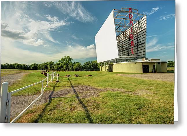 Historic Tulsa Admiral Twin Drive-in Greeting Card