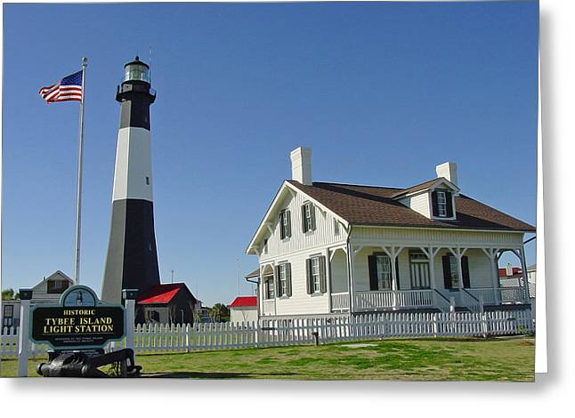 Historic Tybee Island Lighthouse II Greeting Card by Suzanne Gaff