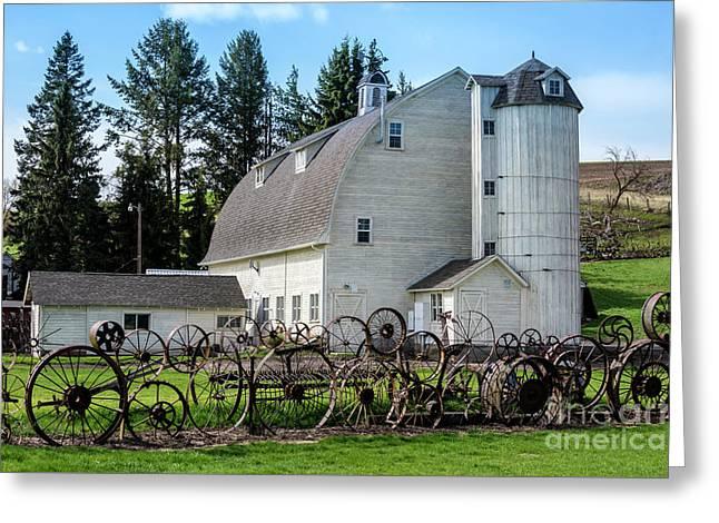 Historic Uniontown Washington Dairy Barn - 2 Greeting Card by Gary Whitton