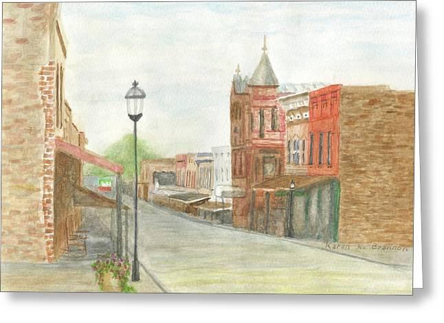 Historic Van Buren, Ar Greeting Card by Karen Brannon