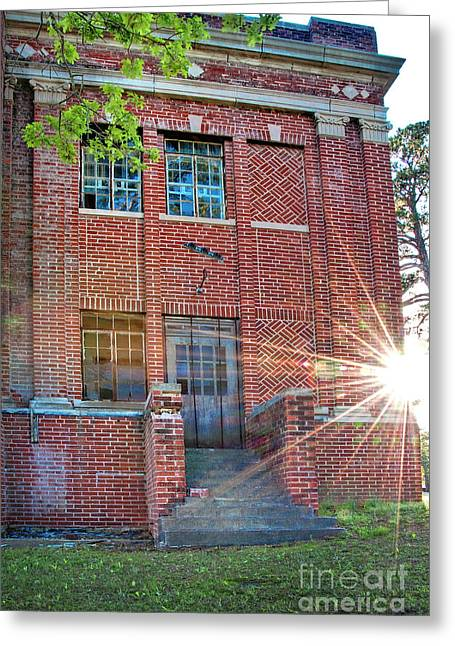 Historic Veteran's Hospital IIi Greeting Card by Tamyra Ayles