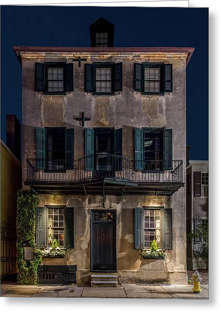 Greeting Card featuring the photograph Historic William Vanderhorst House, Charleston by Carl Amoth