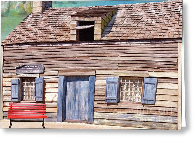 Historic Wooden School House  Greeting Card