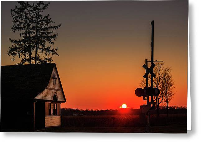 Historical Train Depot In Wayne Illinois Greeting Card